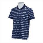 Le coq sportif GOLF メンズ ハニカムメッシュカナロゴPT半袖シャツ QGMPJA13 NVWH 2102 男性 ルコックゴルフ