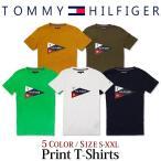 トミーヒルフィガー アウトレット Tシャツ メンズ 半袖Tシャツ フラッグ ロゴ 文字 ブランド TOMMY HILFIGER tsn画像