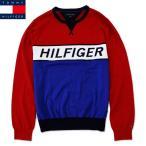 トミーヒルフィガー アウトレット セーター メンズ 丸首 文字 レッド ブルー TOMMY HILFIGER 1732-619 ktk