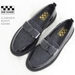 【30%OFF】NO NAME(ノーネーム) リボン ローファー CAMDEN-62988 CAMDEN KNOT マニッシュ エナメル レザー ウール シューズ レディース 靴 黒 ブラック