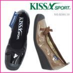 ショッピングスポーツ シューズ KISSA SPORT(キサスポーツ) リボンエナメルシューズ KS8110 ウェッジパンプス キサ 靴 レディース レイン対応