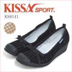 【50%OFF】キサスポーツ KISSA SPORT スパンコール リボンシューズ KS8141  バレエシューズ レディース 靴 ワイズE