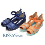 【70%OFF】キサスポーツ KISSA SPORT パナマ調 ストラップ サンダル KS8251 ワイズ E レディース 靴 疲れない 痛くない バックバンド サンダル