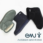 日本正規品 emu (エミュー/エミュ) WATER PROOF PATERSON MINI /ウォータープルーフ パターソンミニ W10946 ムートンブーツ ショートブーツ