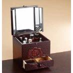 メイクボックス コスメボックス手彫り  鎌倉彫風(半三面鏡)