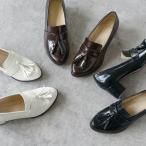 ローファー レディース タッセル 5cmヒール 靴 ブラック ダークブラウン ホワイト 送料無料 pre