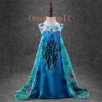 アナと雪の女王 エルサ 風 プリンセスドレス 子供 ドレス  衣装 仮装 ディズニー USJ アナ雪 C-2857D050