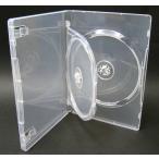 ショッピングDVD DVDケース トールケース 2枚収納 スーパークリア 15mm厚Mロックフリップタイプ10個