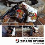 【2016年モデル】【ジパングスタジオ/琉球ごるふ】【ZHCP-001N-PT】【シーサー/豪華な刺繍で再登場!!】【ピン型パター用ヘッドカバー】