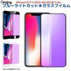 ブルーライトカット ガラスフイルム 縁が割れない iPhone X 8 7 6 Plus 3D ラウンドエッジ 技術加工 9H 飛散防止 ポイント消化