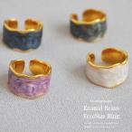 レディースリング 女性リング 指輪 エナメルブラスフリーサイズリング レディース指輪 真鍮 可愛い フリーサイズ ゴールド レディースアクセサリー