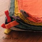 リネン キッチンクロス 正方形 マノン タロッコ manon tarocco リーノエリーナ Lino e Lina K283 リトアニア製
