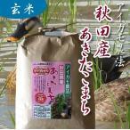 アイガモ農法 無農薬栽培米  秋田あきたこまち 【玄米】 2kg
