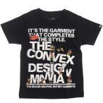 40%OFF SALE セール CONVEX コンベックス 110-160cm ミュータンズフォントT クロ メール便OK  565205 子供服 半袖Tシャツ