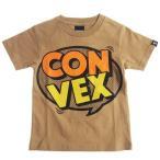40%OFF SALE セール CONVEX コンベックス 110-160cm コミックロゴT ベージュ メール便OK  子供服 半袖Tシャツ