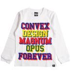 CONVEX コンベックス  110-160cm  カレッジ立体ロゴ ロンT シロ  メール便OK  2020秋冬 577208 子供服 長袖Tシャツ