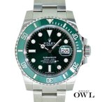 ロレックス ROLEX サブマリーナ グリーン デイト  116610LV ランダム 未使用品(保護シール付き) メンズ 腕時計