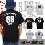 Tシャツ ストリート カレッジ ブランド メンズ 半袖 プリント ASNADISPEC アスナディスペック ロゴT 大きいサイズ M L XL XXL 3L 白 黒 カットソー クルーネック