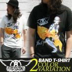 Tシャツ バンドTシャツ ロック Aerosmith エアロスミス アメカジ ブランド メンズ 半袖 ロゴT 大きいサイズ S M L XL 白 黒 カットソー クルーネック ワンズ