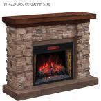 28インチ電気暖炉パワーヒートセット グランドキャニオン 送料無料/LLOYD GRANDE/ロイドグランデ/暖炉 温風ヒーター 暖炉型ヒーター