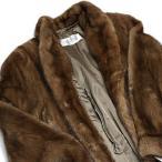 毛皮コート ミンク SAGAMINK ロングコート ブラウン Belle Vison 保証書付き 美品