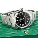ロレックス エクスプローラー1 214270 ランダム ブラック ルーレット刻印 メンズ 腕時計 新品同様