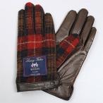 手袋・グローブ・iTouch Gloves アイタッチグローブ ブラウンxレッド/チェック/ムーン