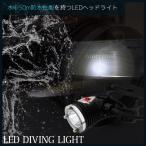 プロ仕様 水中50m防水 ダイビング用 LEDライト 1000lm 水中照明 ダイビングライト スキューバー