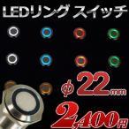 LEDリング プッシュスイッチ 全5色 φ22mm ステンレス加工 12v 24v兼用 1個売り