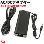 LEDテープ 100v→12v変換ACアダプター 家庭用コンセント オプションパーツ