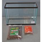 メダカ (めだか飼育 水槽セット) 木目水槽スリム450+えさ+ソイル
