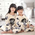 パジャマ 子供 防寒パジャマ あったかパジャマ  パジャマ 2点セット キッズ用パジャマ 女の子 男の子 上下セット