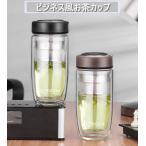 水筒 直飲み ウォーターボトル 500ml グラスボトル スポーツボトル マイボトル ガラス水筒 耐熱ガラス お茶こし付き 韓国風 オシャレ 軽い 便利 携帯用 コーヒーの画像
