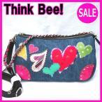 シンクビー ■最新作■デニムハート 2ウェイショルダーバッグ Think Bee! (シンクビー!)