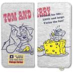 スマホケース 多機種対応 手帳型 (5インチ以内) トム&ジェリー スウェット カバー キャラクター グッズ トムとジェリー TMJ-14A