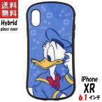 ディズニーキャラクター iPhone XR 対応 ハイブリッドガラスケース ドナルドダック DN-580C グルマンディーズ