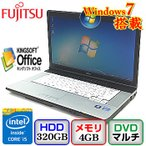 中古ノートパソコン富士通 LIFEBOOK E742/F FMVNE7HE Windows7 Professional 32bit Core i5 2.6GHz 4GB 320GB DVDマルチ 15.6インチ B0208N062 送料無料