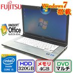 中古ノートパソコン富士通 LIFEBOOK E742/F FMVNE7HE Windows7 Professional 32bit Core i5 2.6GHz 4GB 320GB DVDマルチ 15.6インチ B0208N078 送料無料