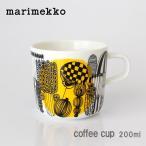 コーヒーカップ マリメッコ Siirtolapuutarha シイルトラプータルハ 女の子柄 イエロー ハンドルあり