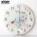 MOOMIN ( ムーミン ) ガラス ウォール クロック 壁掛け 時計 「 Little My Chasing 」 ( ムーミンタイムピーシーズ )