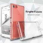 ★送料無料★Xperia Z5 compact ケース Ringke FUSION ハイブリッドケース Crystal View クリア