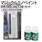 マジックルミノペイント 同色 100g(50g×2本)+ブラックライトセット (シンロイヒ/)
