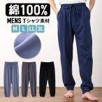 パジャマ ルームパンツ メンズ 春 夏 綿100% 薄手Tシャツ素材 グレー/ネイビー  M/L/LL/3L