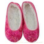 ショッピングルームシューズ ルームシューズ bSoft バンブー フランネル Pink Paisley