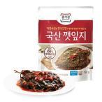【冷蔵】『宗家』ケンニッキムチ|エゴマの葉キムチ(辛口タレ漬け・150g) チョンガ 韓国キムチ 韓国おかず 韓国料理 韓国食材 韓国食品