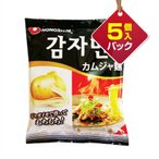『農心』ジャガイモ麺|じゃがいもラーメン(5個入りパック) ■1個当り142円 カムザメン ノンシム 韓国ラーメン インスタントラーメン