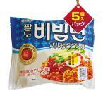 『Paldo』ビビン麺(5個入りパック) ■1個当り114円 夏 夏定番 甘辛 パルド 韓国ラーメン インスタントラーメン