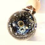 銀河ガラス 86◆ブラック バブル 宇宙ペンダント 宇宙ガラス ガラス細工 ガラス玉 惑星 宇宙ネックレス クリスマスプレゼント