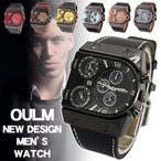 3-MOVT腕時計 メンズ 腕時計 ビッグフェイス仕様 クオーツ FASHION腕時計 メンズ ラウンド オシャレ シンプルカジュアル ビジュアル シルバー 安い 新品 ステン