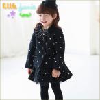 Dot Wool Dress 韓国子供服 女の子 秋冬 スカートセット フォーマル かわいい キッズ 女の子長袖 トップス
